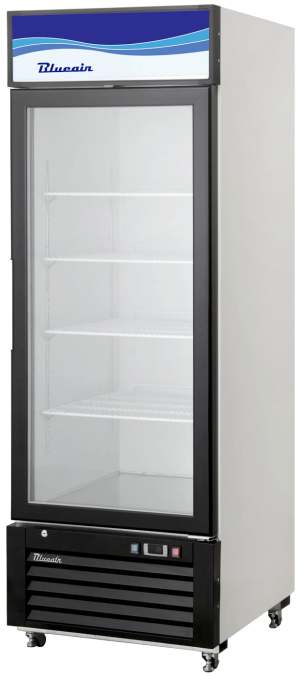 Blue Air BKGM14-HC Hinged Glass Single Door Cooler