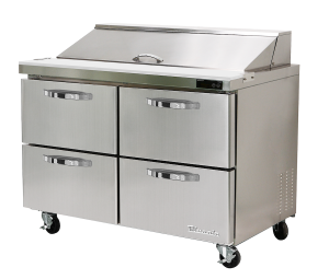 BLUE AIR BLPT60-D4-HC Sandwich Prep Table with 4 Drawers