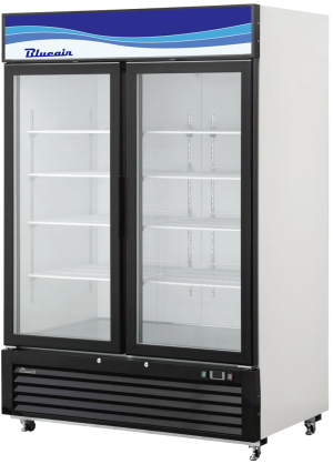 BLUE AIR BKGM49-HC 2 Door Glass Merchandiser Refrigerator