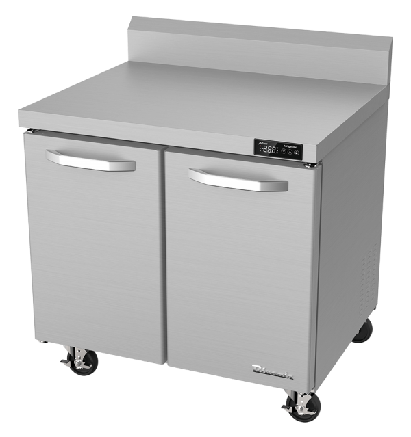 "BLUE AIR BLUF36-WT-HC Two Doors 36"" Undercounter Worktop Freezer"