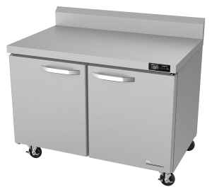 "BLUE AIR BLUF60-WT-HC Two Doors 60"" Undercounter Worktop Freezer"