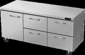 BLUE AIR BLUR72-D4RM-HC 4 Drawer 1 Door Undercounter Refrigerator