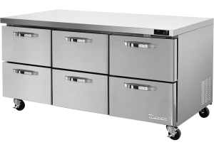 """BLUE AIR BLUR72-D6-HC Six Drawers 72"""" Undercounter Refrigerator"""