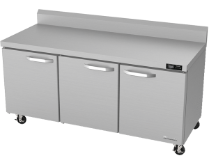 BLUE AIR BLUR72-WT-HC 3 Door 72″ Undercounter Worktop Refrigerator