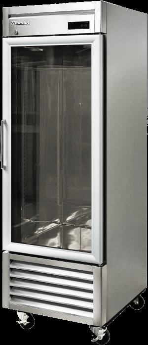 Blue Air BSR23G-HC Hinged Glass Single Door Cooler