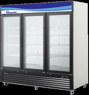 Blue Air BKGM72-HC 3 Glass Door Refrigerator Merchandiser