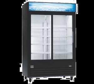 """KELVINATOR KCGM47RB-HC 53"""" Double Glass Door Display Cooler"""