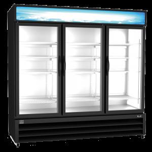 KELVINATOR KCHGM72F Triple Glass Door Display Freezer