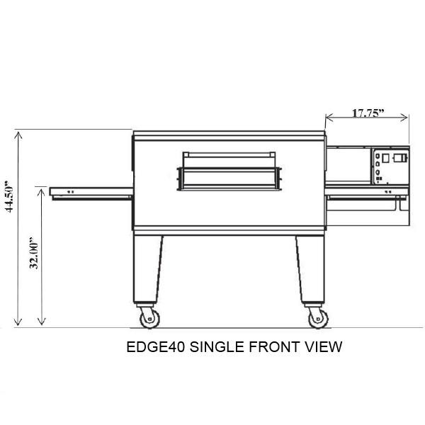 EDGE 3240 Single-Stack Gas Conveyor Pizza Oven