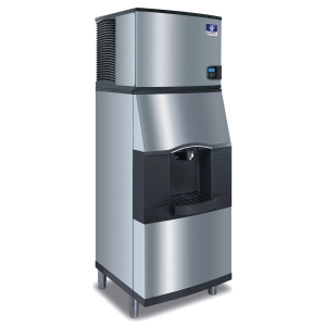 MANITOWOC IDT0420A/ SPA160 470lb Full Cube Ice Maker w/ Ice Dispenser