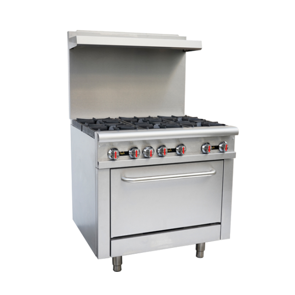 OMCAN CE-CN-0914-R, 36-inch Commercial Gas Range – Natural Gas