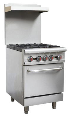 OMCAN CE-CN-0609-R, 24-inch Commercial Gas Range – Natural Gas