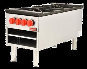OMCAN CE-CN-1060-S - Double Gas Stock Pot Range - 200,000 BTU
